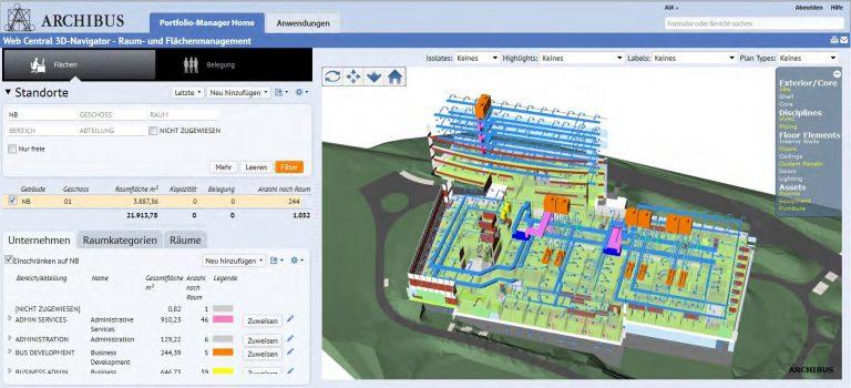 Archibus Web Central 3D Navigator